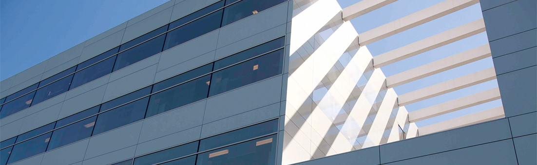 Fassade aus Glas und Aluminiumpaneelen, CCB Innsbruck